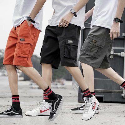 夏季新款工装短裤男潮牌宽松余文乐青少年休闲五分迷彩裤学生中裤
