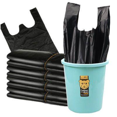 黑色垃圾袋家用加厚中大号手提背心式拉圾袋批发一次性塑料袋厨房