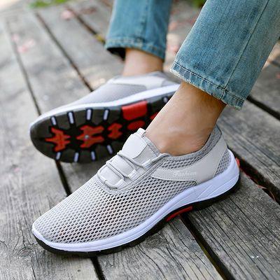新品夏季男鞋透气镂空网鞋情侣登山跑步鞋耐磨男士运动鞋子户外鞋