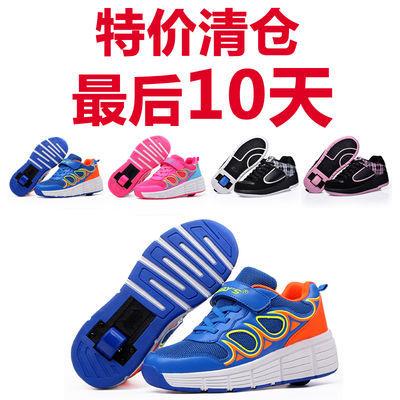 儿童暴走鞋男女童鞋轱辘单轮滑轮爆走鞋学生运动鞋底带轮子变形鞋