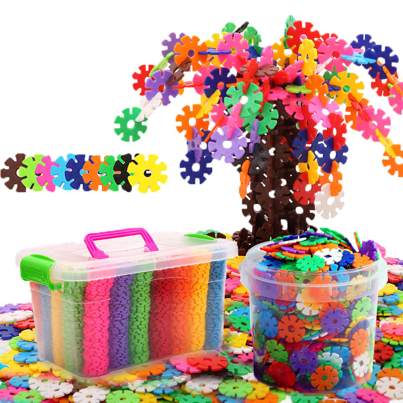 【4.9元抢1000件,抢完恢复5.9元】儿童益智小孩玩具大号雪花片宝宝拼插积木3-6岁男孩女孩拼装玩具