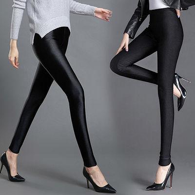 【大码180斤】高腰光泽裤踩脚加厚加绒打底裤外穿九分小脚裤子女