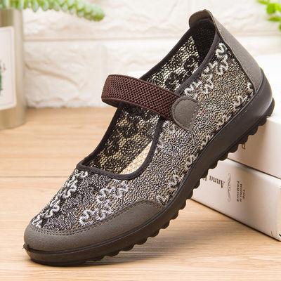 老年人的鞋子60-70岁女婆婆防滑老北京布鞋女夏季2019新款凉鞋夏