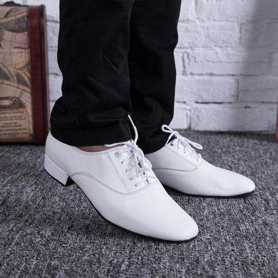 男士摩登舞鞋教师鞋广场舞鞋国标交谊舞成人拉丁舞跳舞鞋演出鞋子