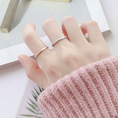 韩版男女情侣钛钢玫瑰金对戒尾戒食指磨砂戒指关节潮人学生个性