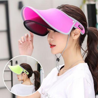 防晒帽子女韩版遮脸防紫外线遮阳帽户外春季出游美白太阳帽空顶帽