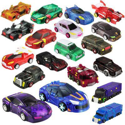 【拍2送车厢】魔幻车神2儿童玩具韩国炫卡爆兽变形机器人对战全套