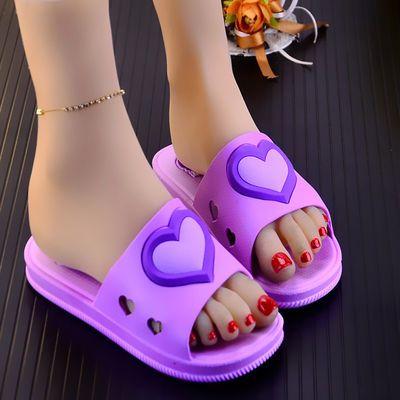 新款夏季女士卡通防滑凉拖鞋居家软底浴室拖鞋卡通可爱厚底凉拖鞋