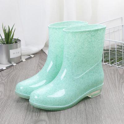 加棉雨鞋女短筒成人雨靴时尚水靴夏季防水鞋女士防滑中筒胶鞋套鞋