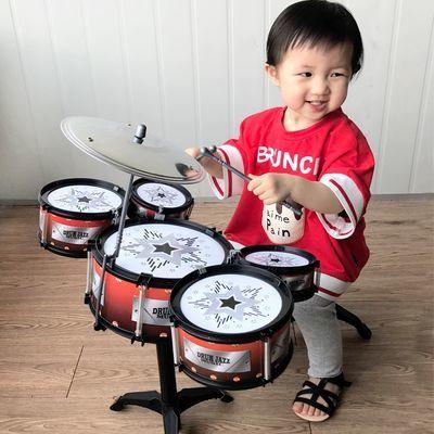 架子鼓儿童玩具初学者爵士鼓音乐练习仿真鼓敲打乐器男孩女孩大号