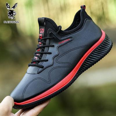 单棉同款花花公子国际公司PLAYYOUNG秋冬男鞋百搭休闲运动跑步鞋