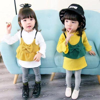 童装女童套装女婴春秋女宝宝衣服婴儿装韩版两件套长袖上衣T恤潮
