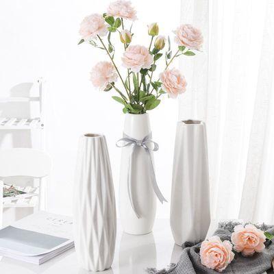 陶瓷白色小清新花瓶摆件客厅家居插花富贵竹餐桌水培现代简约花器