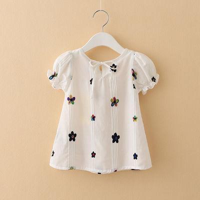 童装2019夏装新款儿童韩版短袖T恤 女童夏季宝宝上衣童娃娃衫纯棉