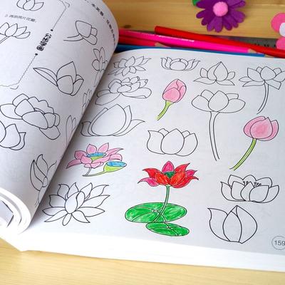 幼儿童涂色本画画书简笔画5000例宝宝启蒙涂鸦填色本图画册绘画书