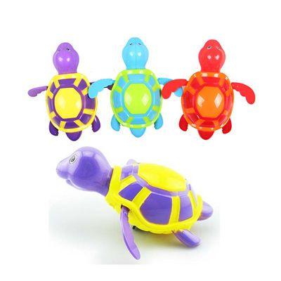 可爱龟洗澡玩具宝宝洗澡玩具小游泳洗澡娃娃玩具女孩圈宝宝洗澡