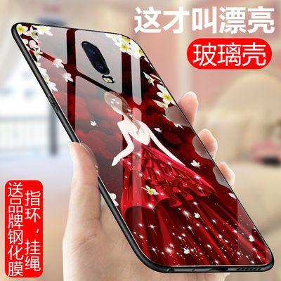 oppoR17手机壳r17玻璃壳男女个性创意硅胶边opr17时尚网红潮牌硬