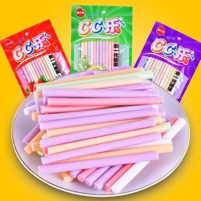 吸吸cc乐软糖糖休闲回忆零食80后经典水果味糖果吸管糖儿童零食
