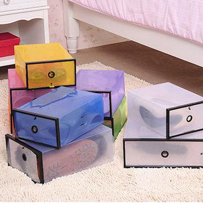 10只装塑料鞋盒透明男女鞋柜加厚组合抽屉式鞋盒子放鞋子的收纳盒