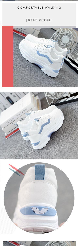 温州爆款运动鞋女新款女鞋子学生韩版平底老爹鞋休闲跑步鞋