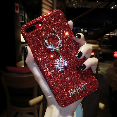 苹果x手机壳iPhone8/7plus闪钻6plus闪粉xr/xs max亮片6s网红女款