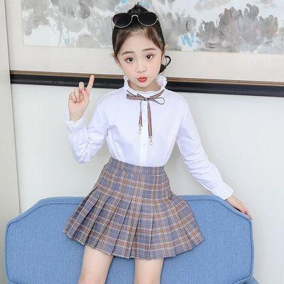 单件裙子+套装女童时尚格子裙8小女孩衬衫套装6儿童时髦洋气2件套