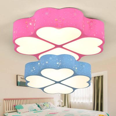 四叶草卧室吸顶灯温馨浪漫LED客厅灯儿童男孩女孩房间灯护目灯具