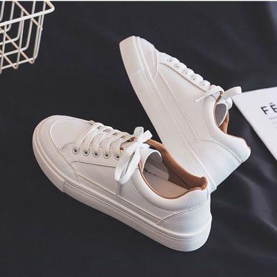小白鞋女学生2019新款女鞋百搭平底纯白鞋子百搭休闲运动板鞋单鞋