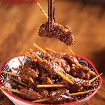 湖南特产刘记香辣牙签肉10-100包麻辣休闲零食小吃鸭肉批发