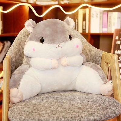 仓鼠抱枕被子两用靠背护腰靠垫靠枕办公室腰垫毯子女座椅枕头椅子