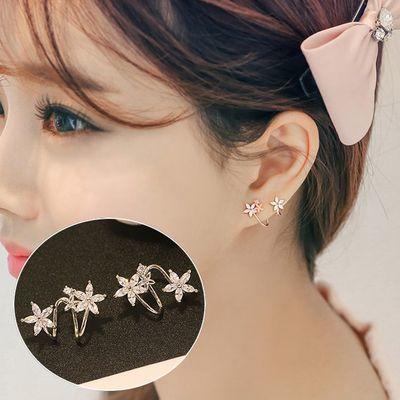 耳骨盘 韩版可爱花朵耳钉女925纯银针学生简约气质防过敏耳夹耳环