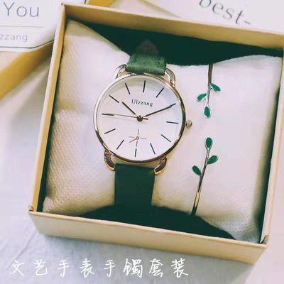 【正品手表】女表时尚潮流简约新款网红可刻字韩版防水女学生手表