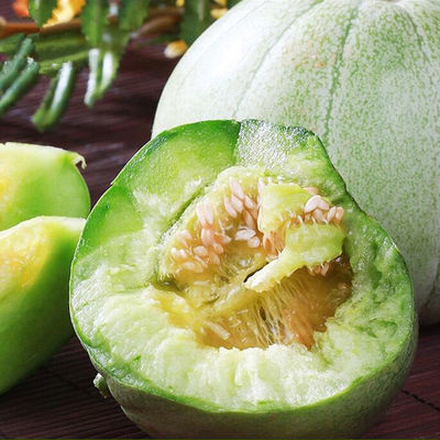 现摘绿宝甜瓜孕妇水果新鲜绿宝香瓜1斤5斤脆瓜超甜绿宝石甜瓜香瓜