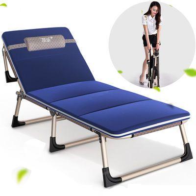 单人午睡床【加固折叠床】办公室午休床睡椅陪护床简易