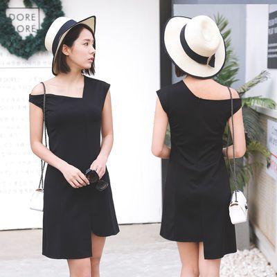小礼服名媛性感新款气质2020修身显瘦露肩派对紧身连衣裙春季女装