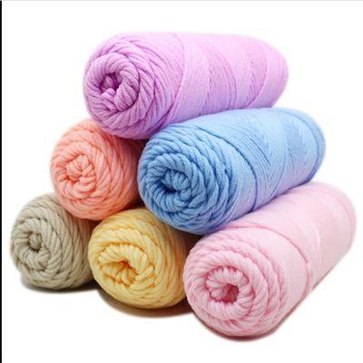 毛线团织围巾男友驼色毛线团毛线团粗毛线驼色毛线团金丝绒毛线团