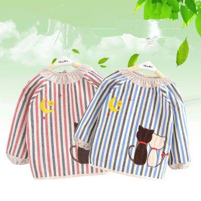 宝宝罩衣棉4层吃饭罩衣婴儿反穿衣防水长袖儿童围裙秋冬0-1-2岁