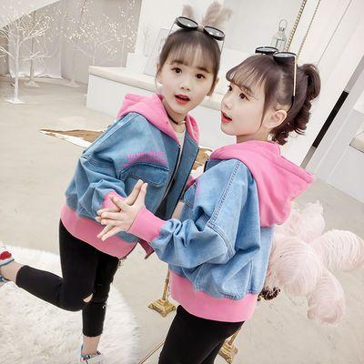 新品女童牛仔外套春装2019新款韩版儿童洋气上衣网红女孩中大童