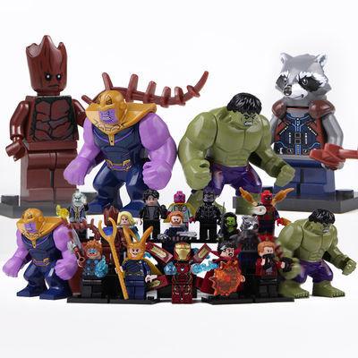 乐高超级英雄人仔积木漫威蜘蛛侠蝙蝠侠人偶拼装益智儿童玩具男孩