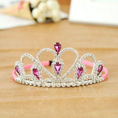 时尚儿童发饰头饰品女童可爱王冠小女孩流行水钻皇冠发卡宝宝发箍