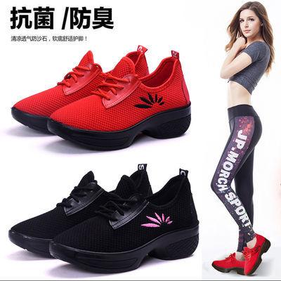 舞蹈鞋软底坡跟女鞋春夏跳舞鞋广场舞鞋老北京布鞋女布鞋