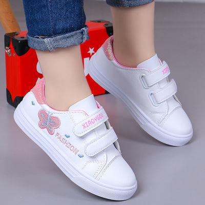 女童运动鞋春季学生小白鞋时尚可爱童鞋卡通小女孩休闲板鞋