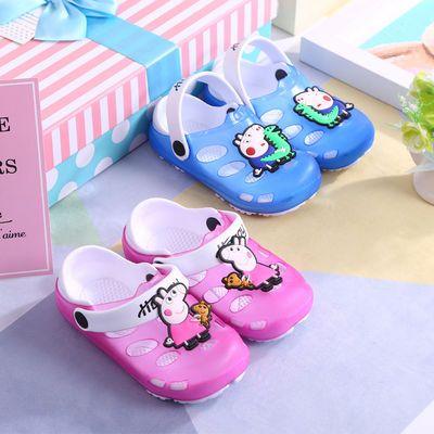 夏季新款小猪佩奇儿童拖鞋男女童洞洞鞋宝宝沙滩软底防滑小孩凉鞋