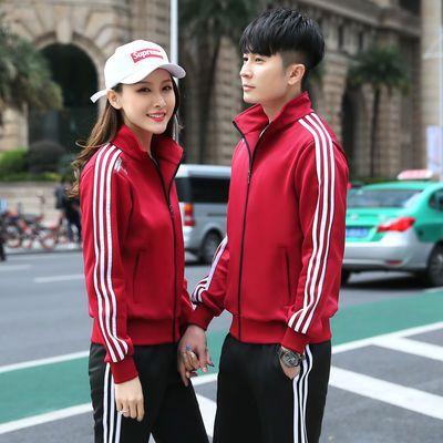 春秋情侣装套装男女韩版卫衣舒适学生运动健身跑步服饰网红两件套