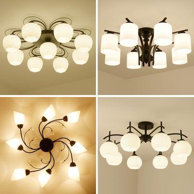 美式卧室吸顶灯简约现代创意个性大气客厅灯餐厅房间书房北欧灯具
