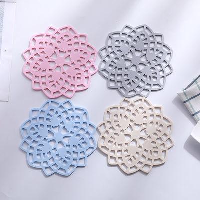 (多个装)隔热垫餐桌垫加厚硅胶花型碗垫盘垫锅垫杯垫防滑防烫垫