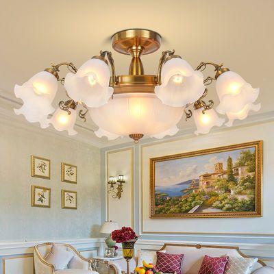 LED吸顶灯客厅灯具套餐欧式别墅大灯美式餐厅灯简约花灯卧室灯