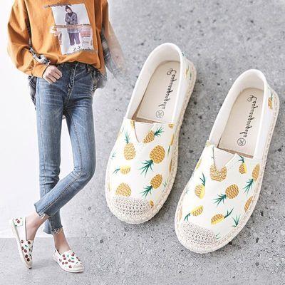 帆布鞋女学生韩版平底单鞋老北京布鞋女士渔夫鞋低帮新款休闲百搭