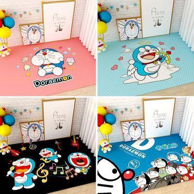 哆啦a梦地毯卧室床边毯机器猫小叮当叮当猫儿童卡通可爱地垫客厅