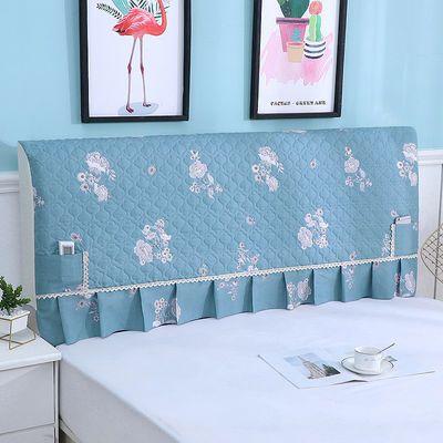 全包床头罩床头套简约夹棉加厚实木皮床头防尘罩保护套床头柜盖巾